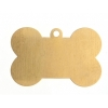 Metal Blank 24ga Brass Dog Bone 25x13mm With Ring
